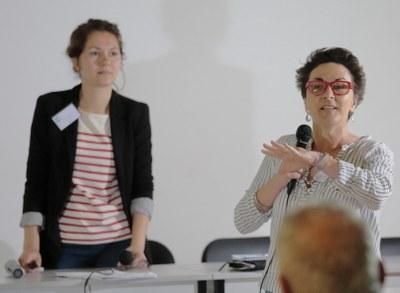 22 - Alexandra, Coordinatrice Générale des AEM, et Karine Orance, animatrice du groupe communication
