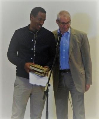 41- Emotion autour du départ de Yonas Behre qui a accompagné les AEM en Ethiopie pendant de nombreuses années