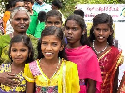 Les enfants de Voice Trust, qui bénéficieront du projet panneaux solaires